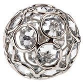 Nickel Sphere Knob With Rhinestones